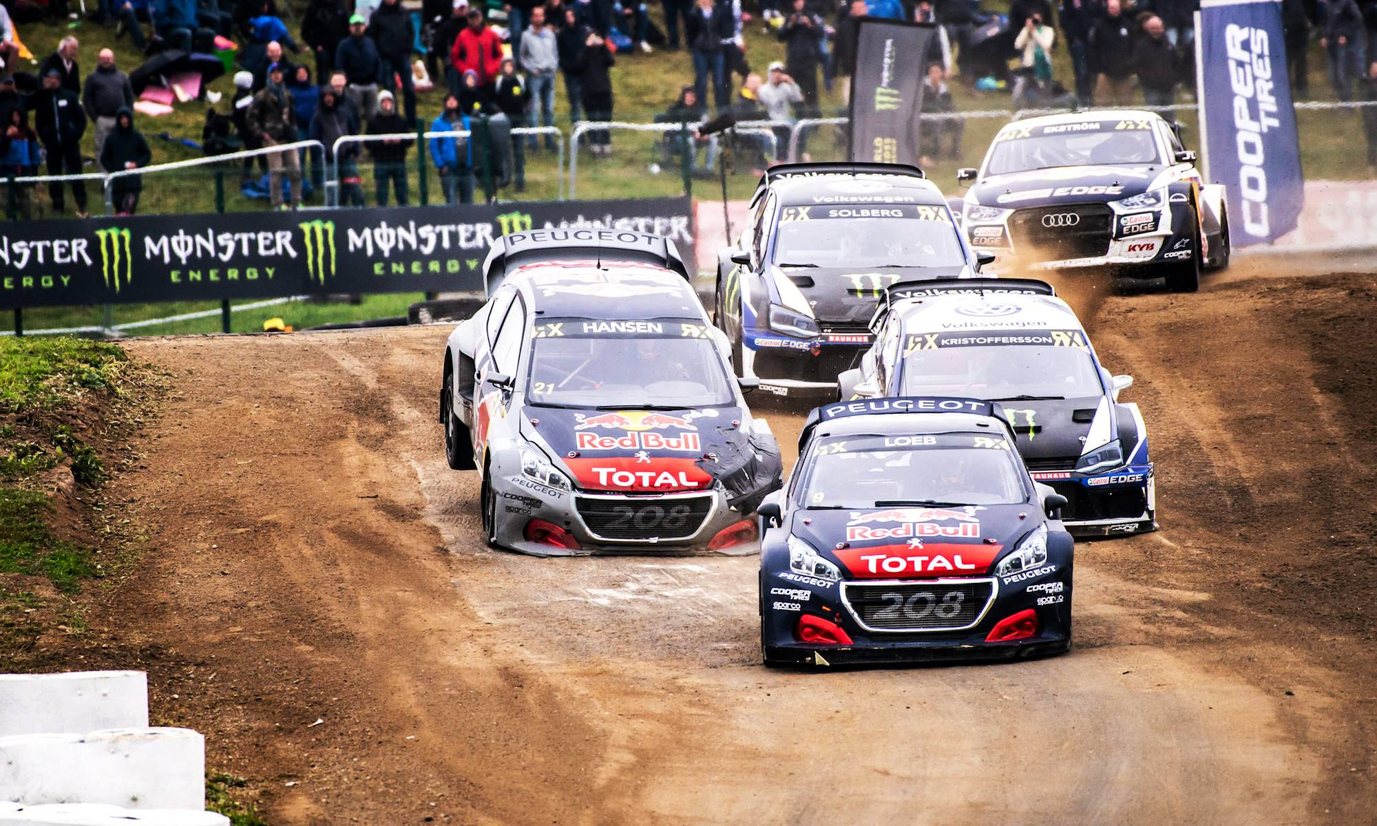 Loeb drove a flawless race to claim victory in the third round of the FIA World Rallycross championship