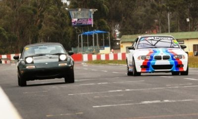 Mixing it up with more powerful cars on track