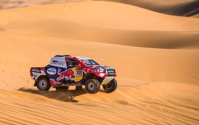Nasser Al-Attiyah could not match the leaders pace today