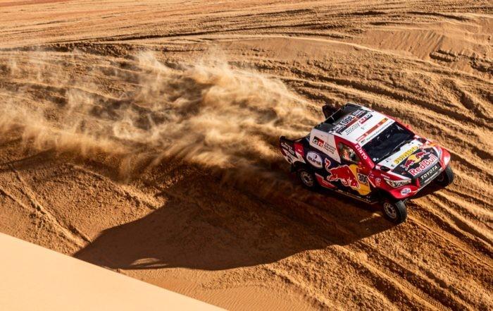 Nasser Al-Attiyah finished 10 seconds behind the winner on 2020 Dakar stage 11