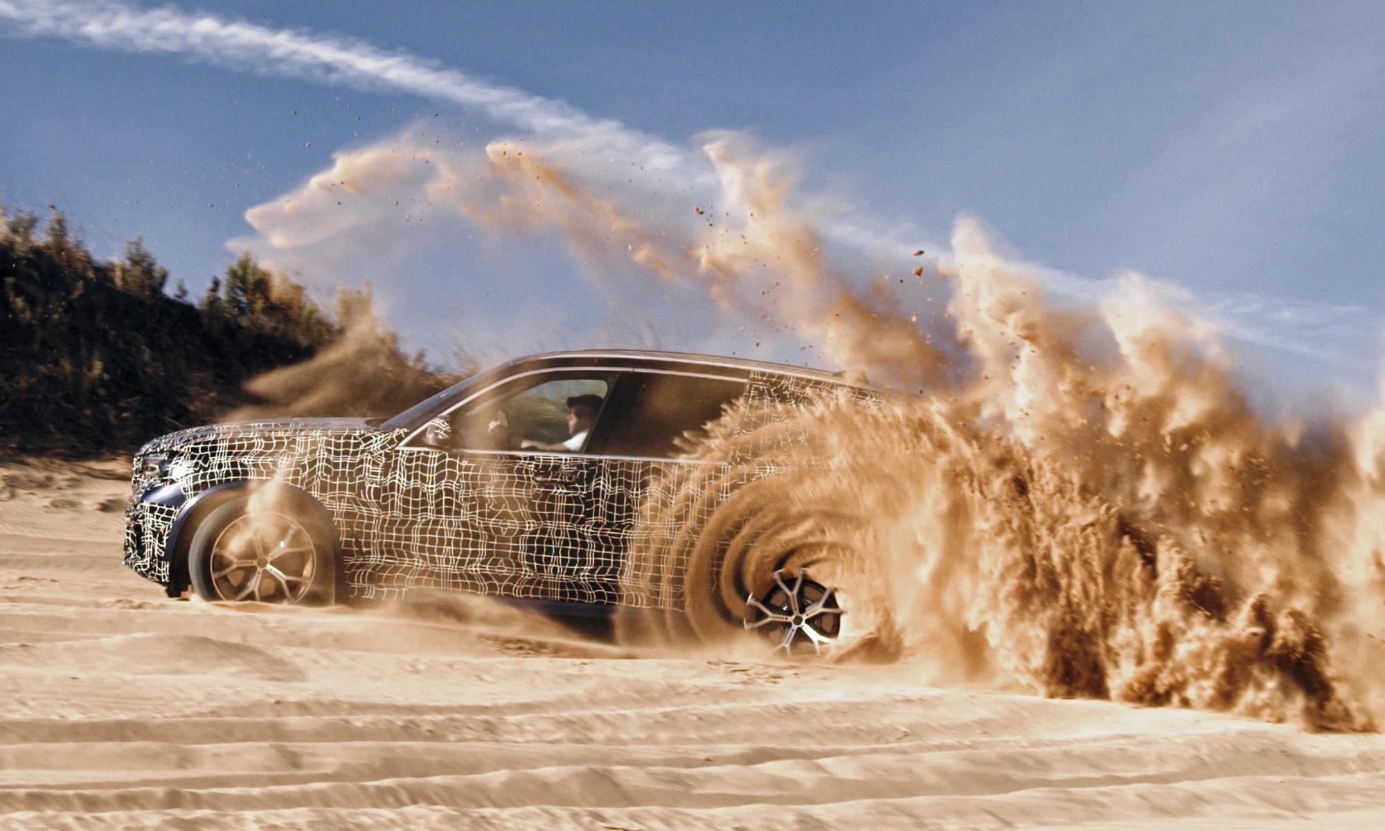 New BMW X5 sand testing