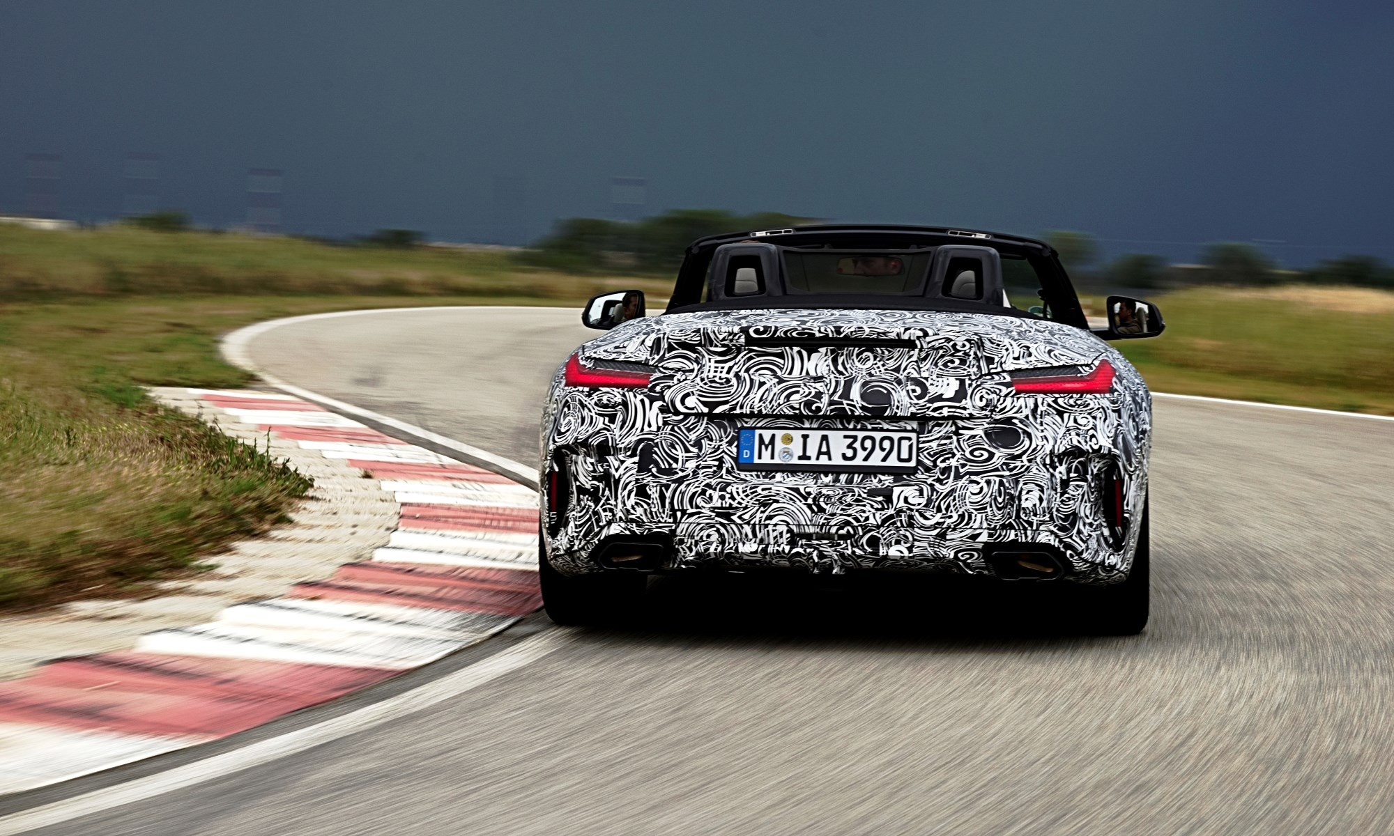 New BMW Z4 undergoing dynamic testing