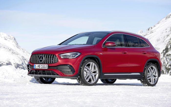 New Mercedes-Benz GLA red