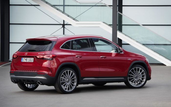 New Mercedes-Benz GLA red rear