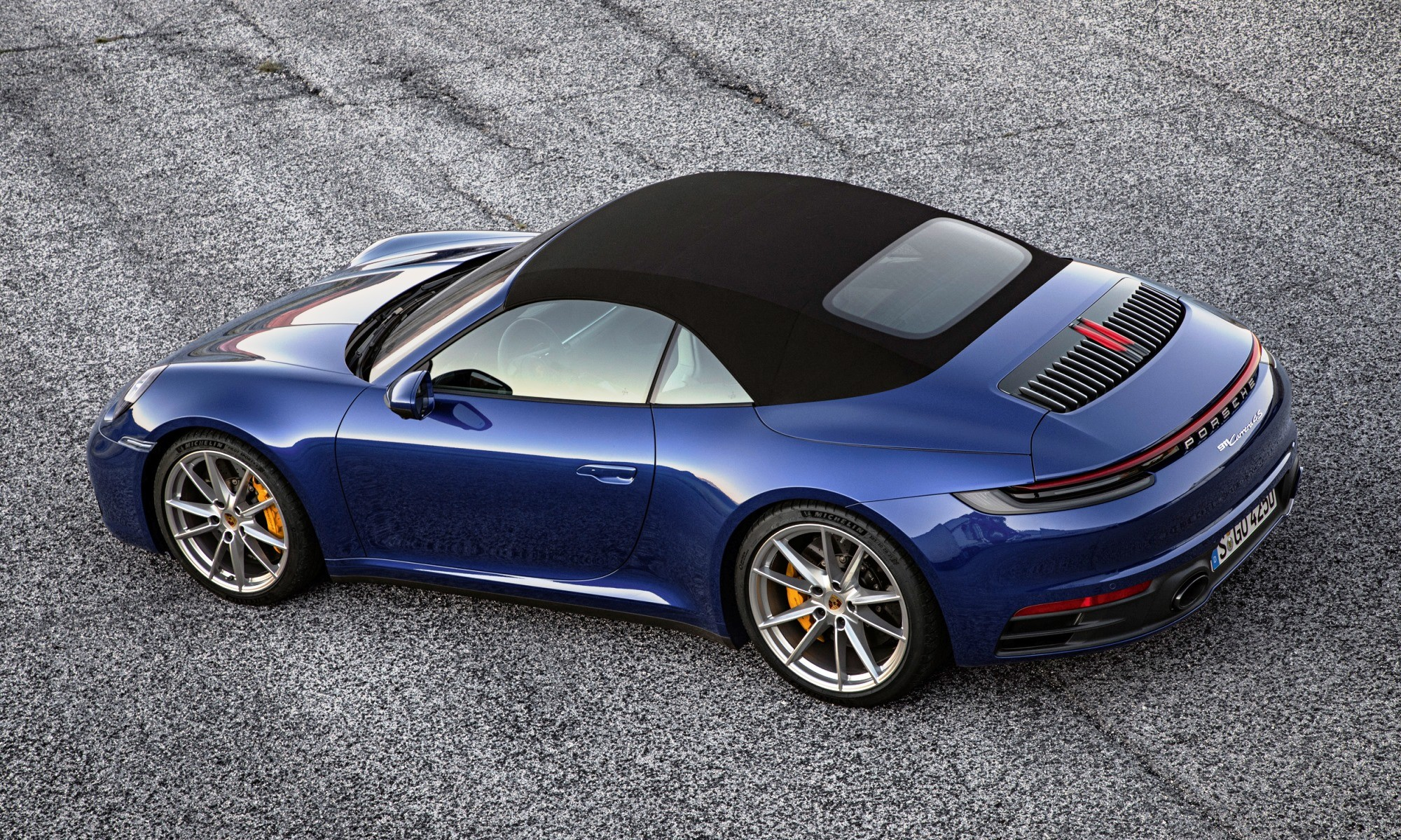 New Porsche 911 Cabriolet roof up