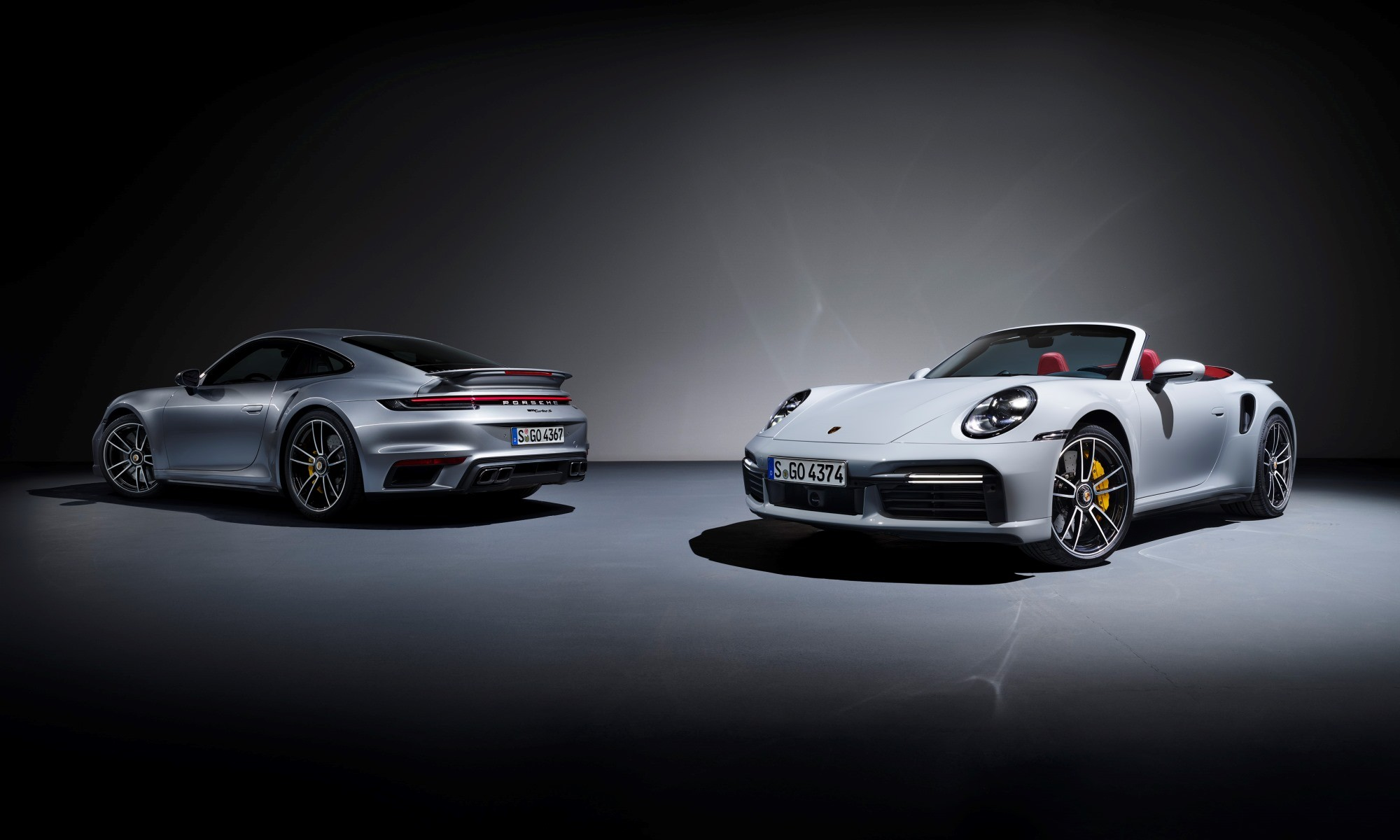 New Porsche 911 Turbo S coupe and Cabriolet