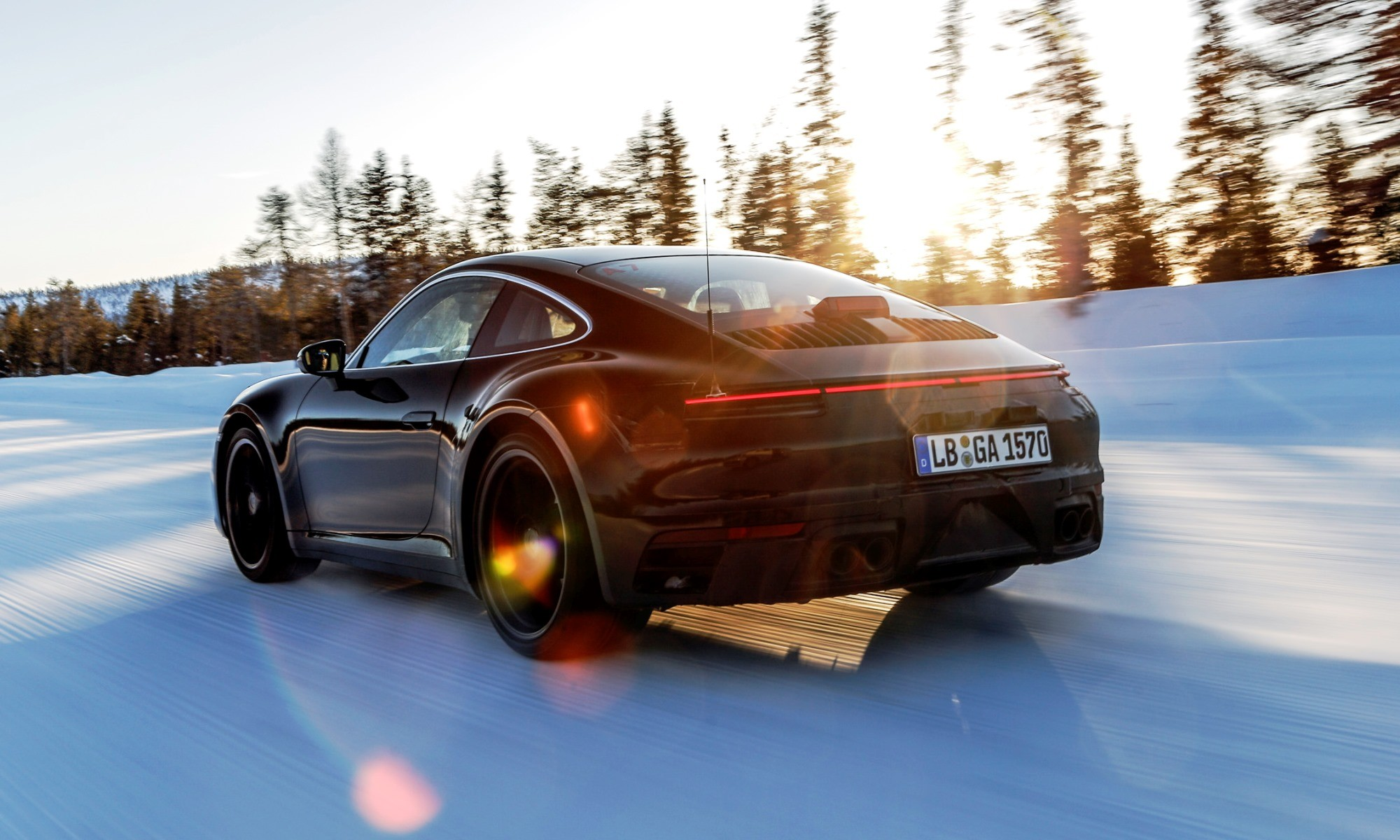 New Porsche 911 cold weather testing