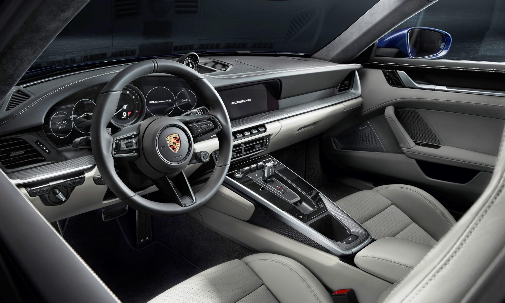 New Porsche 911 interior