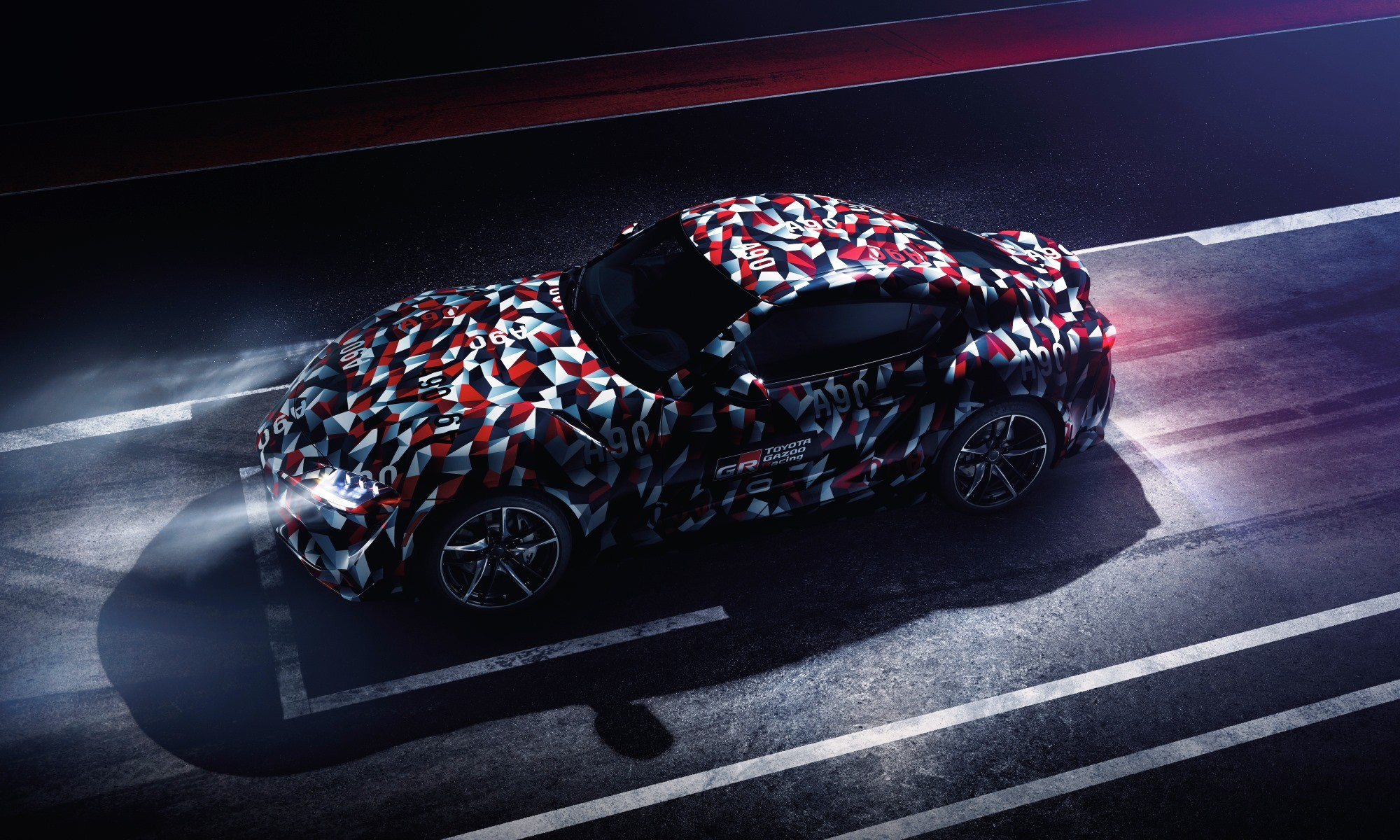 New Toyota Supra in Gazoo Racing camouflage colours