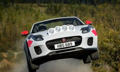 Not every day you see a Jaguar F-Type flying