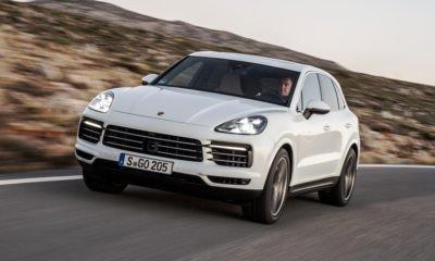 Note the headlamp design of the new Porsche Cayenne