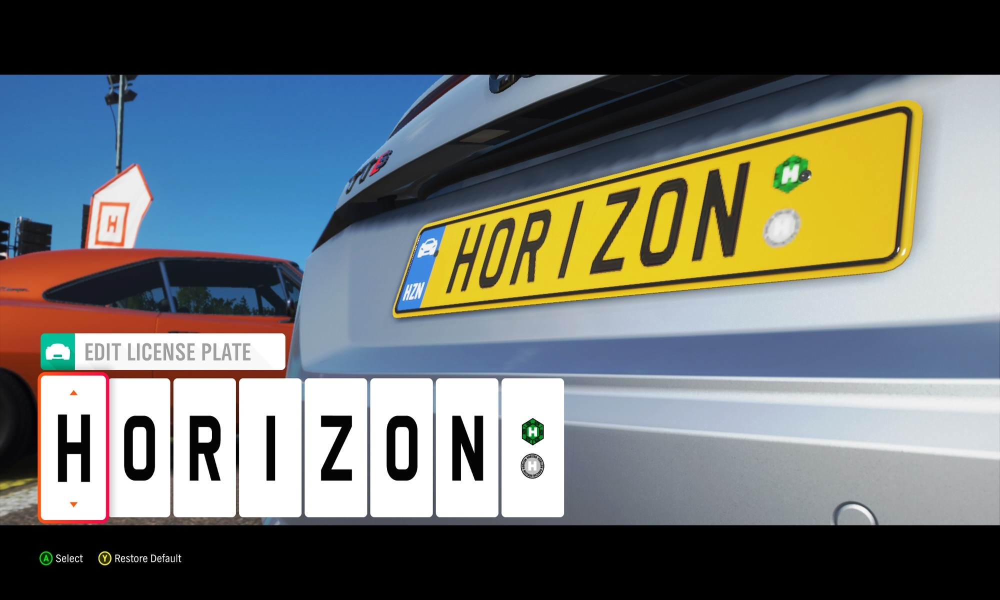 Number plate customisation