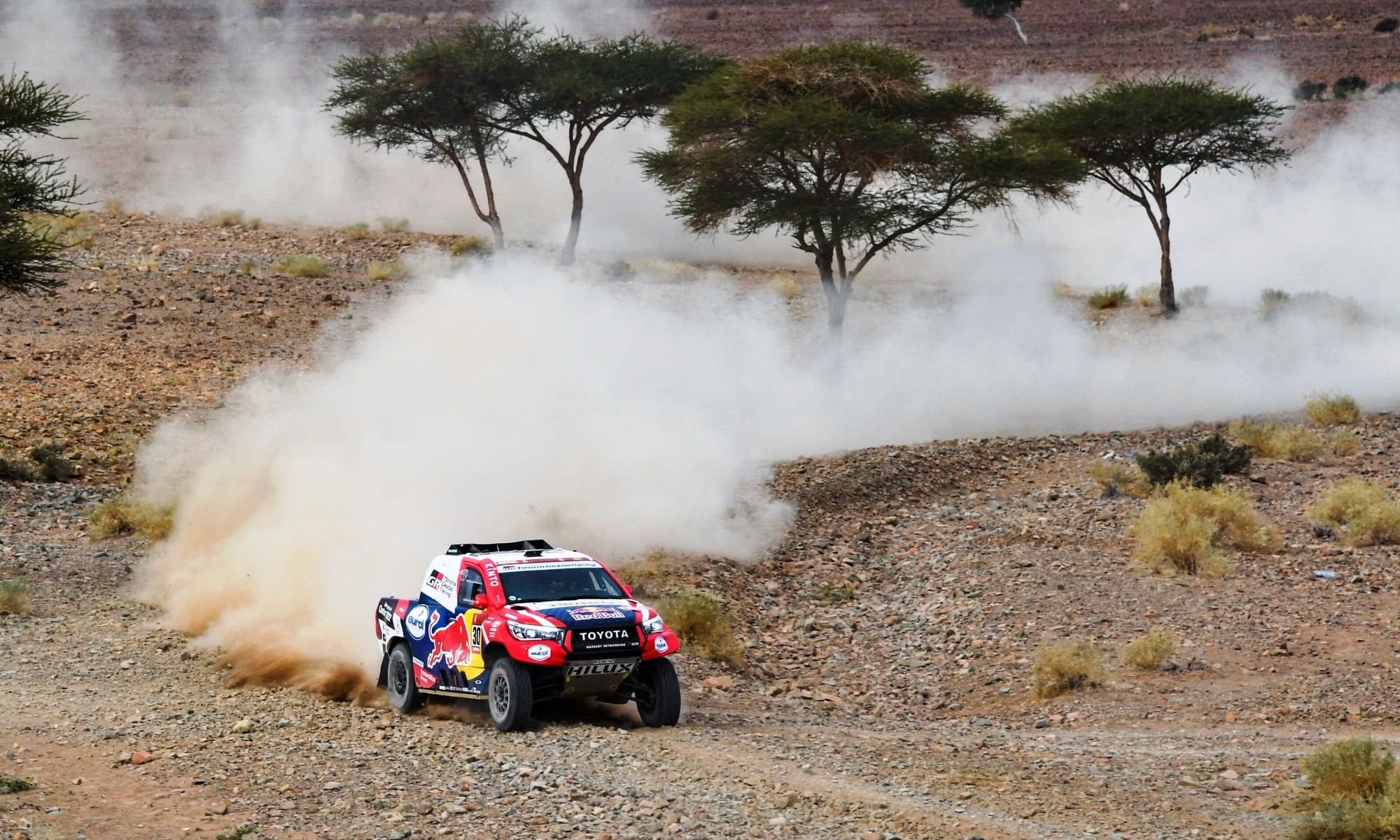 Once again Nasser Al-Attiyah was among the front-runners