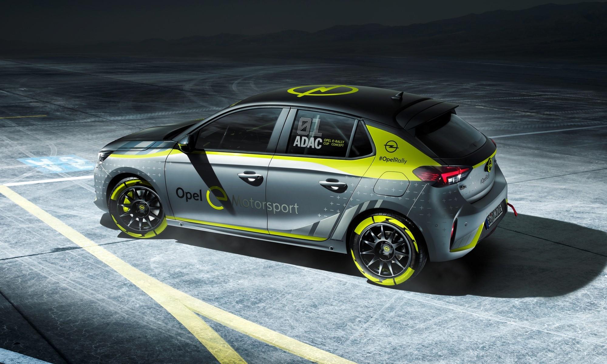 Opel Corsa-e Rally Car rear