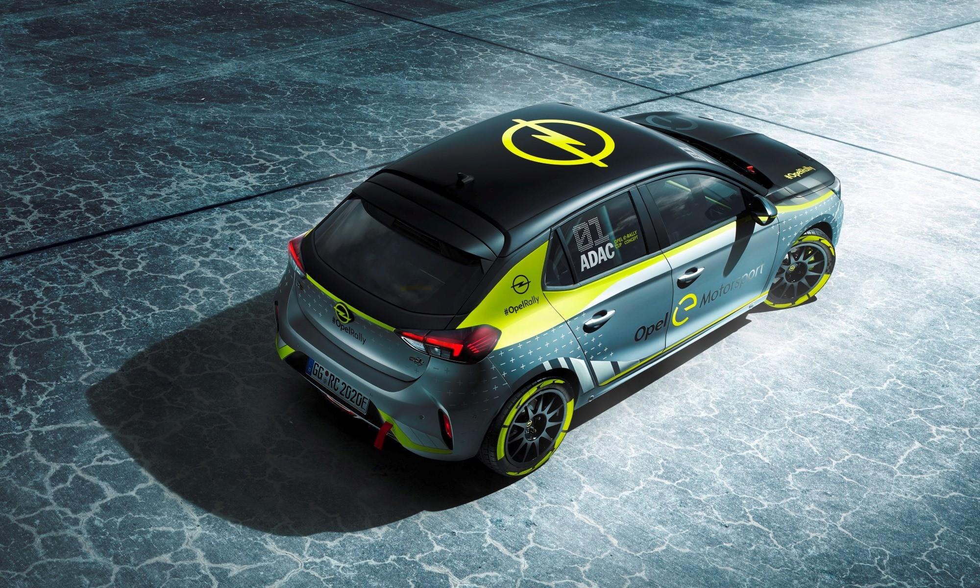 Opel Corsa-e Rally Car top