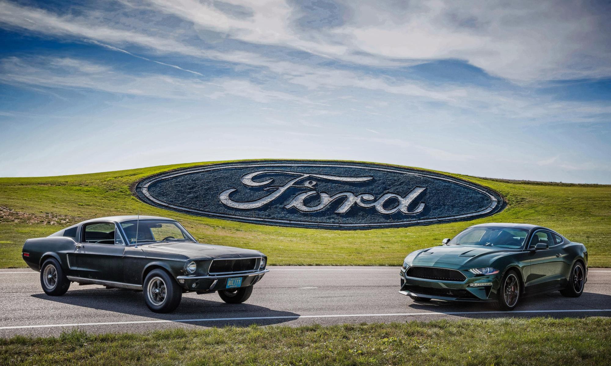 Original Bullitt Mustang movie car with its new namesake