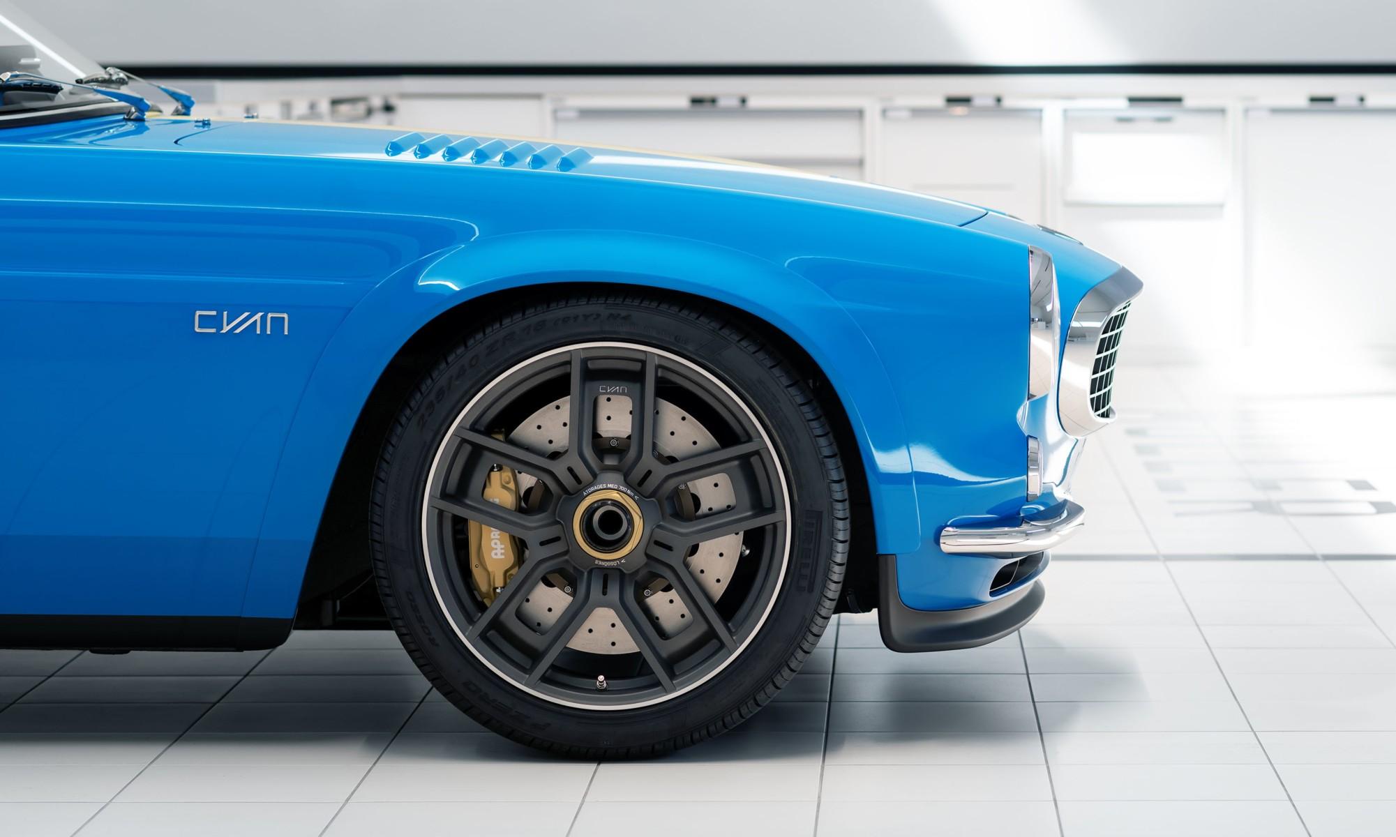 Volvo P1800 Cyan wheel