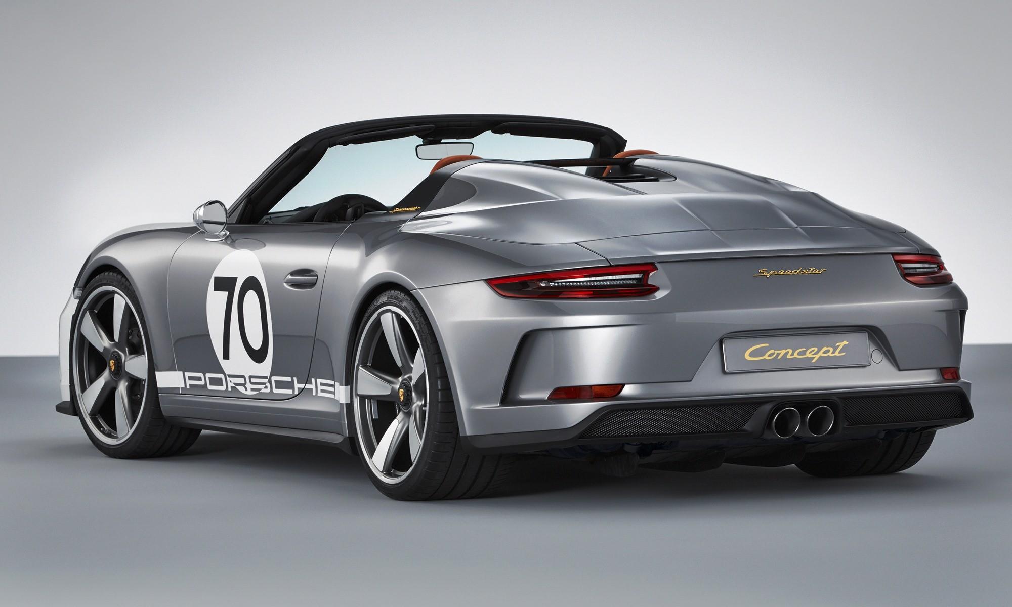 Porsche 911 Speedster Concept rear