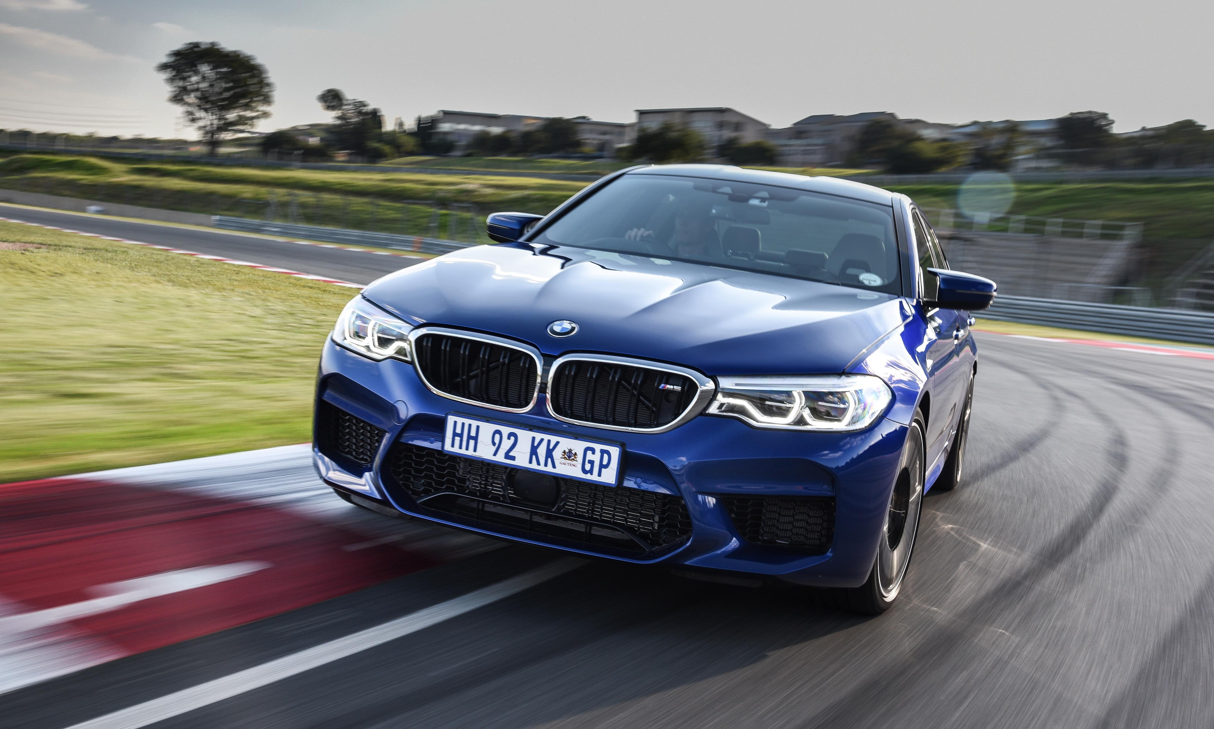 New BMW M5 has a domed bonnet and different front bumper