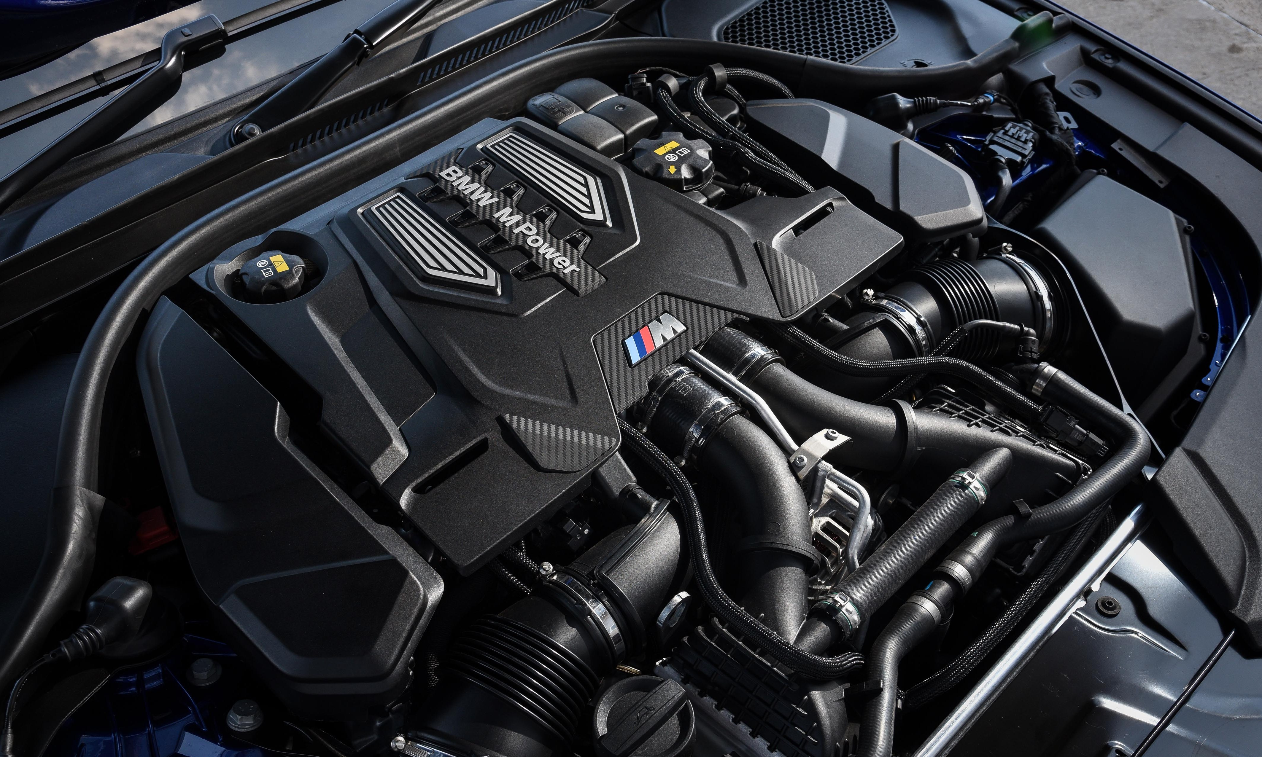 The 4.4-litre twin-turbo V8 is a carry-over unit