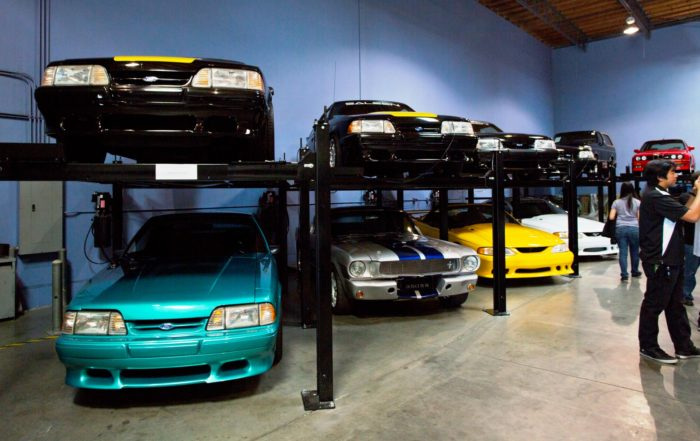 Paul Walker's Cars in garage