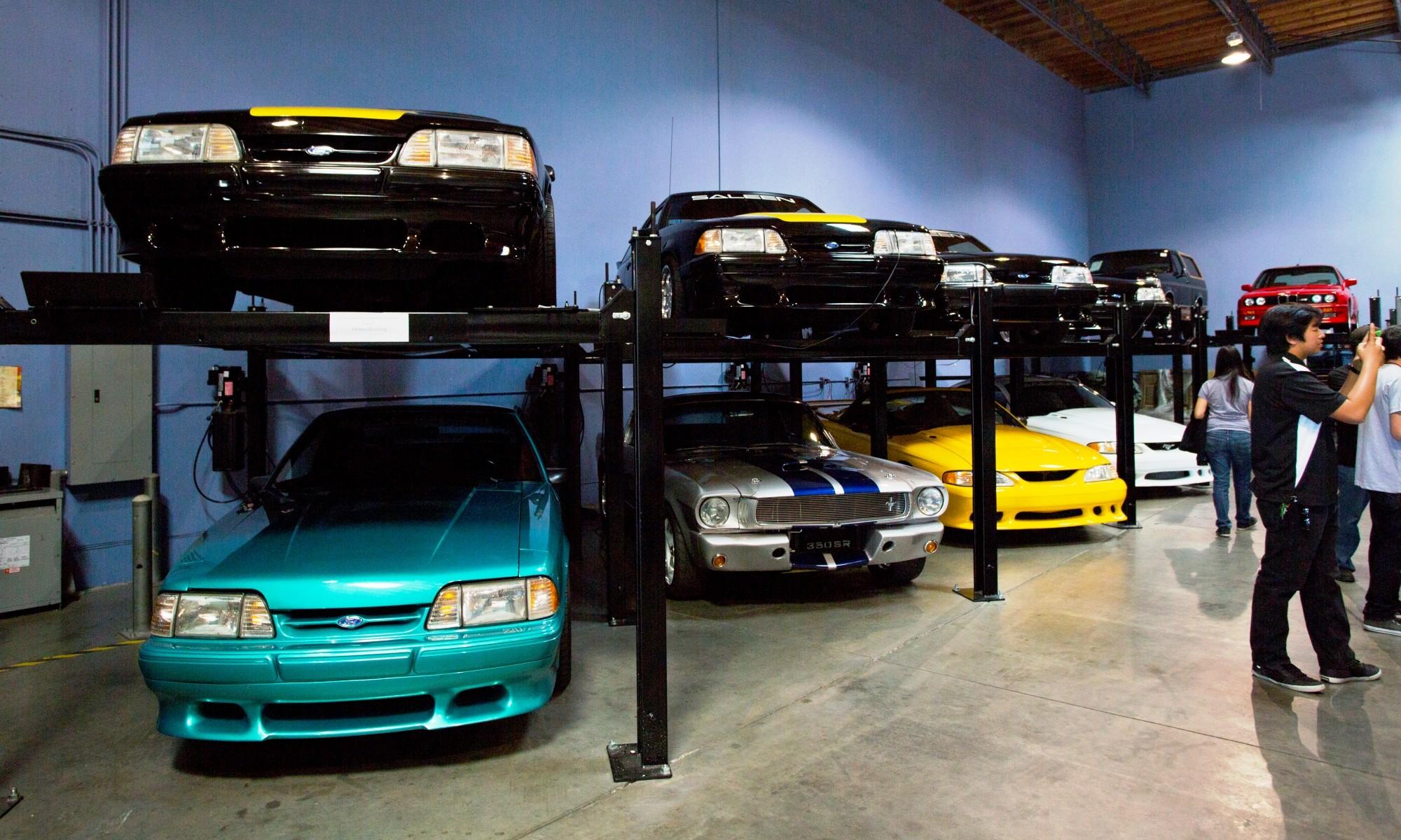 Paul Walker's Cars in garage
