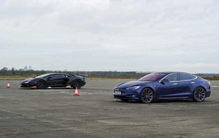 Petrol vs Battery Drag Race