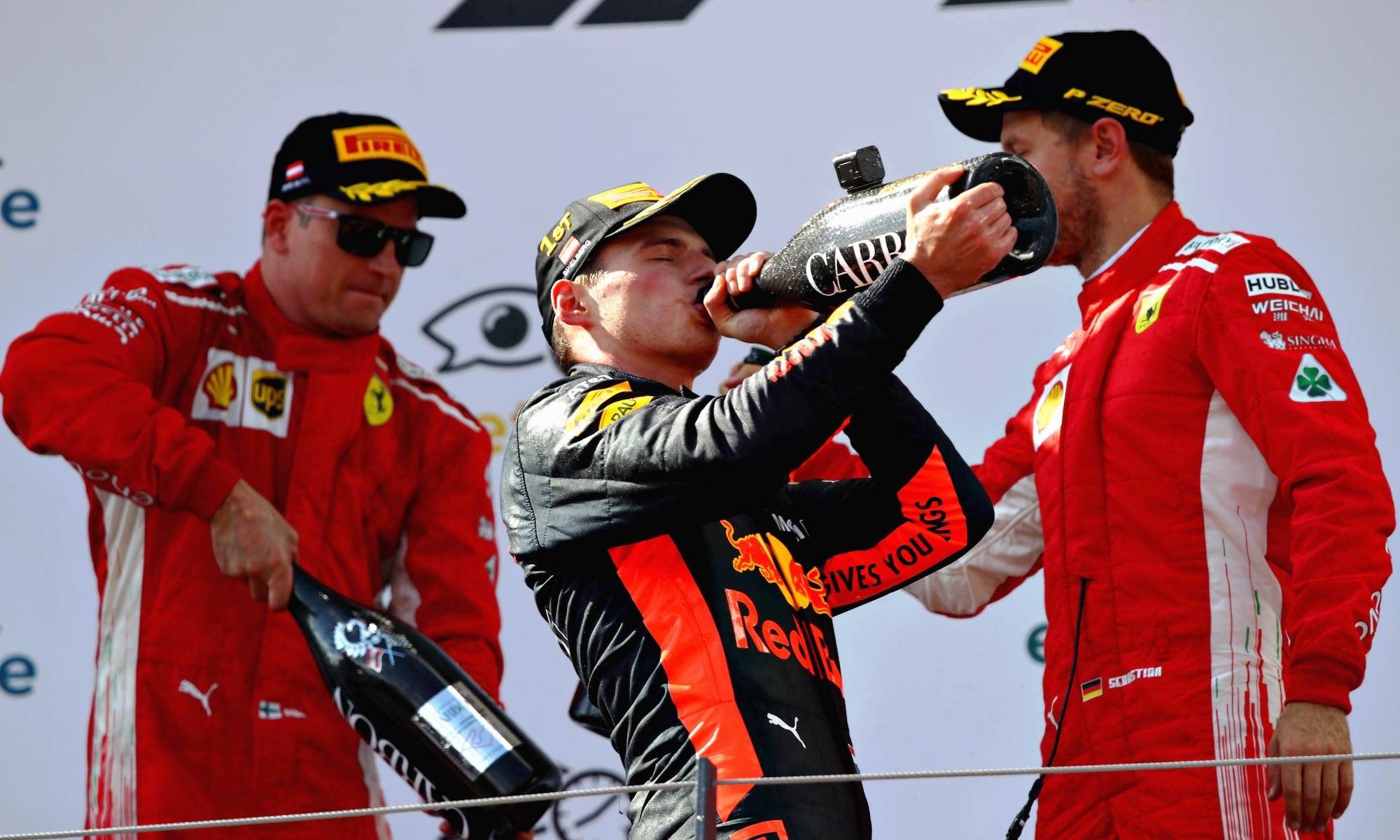 Podium celebrations in Austria