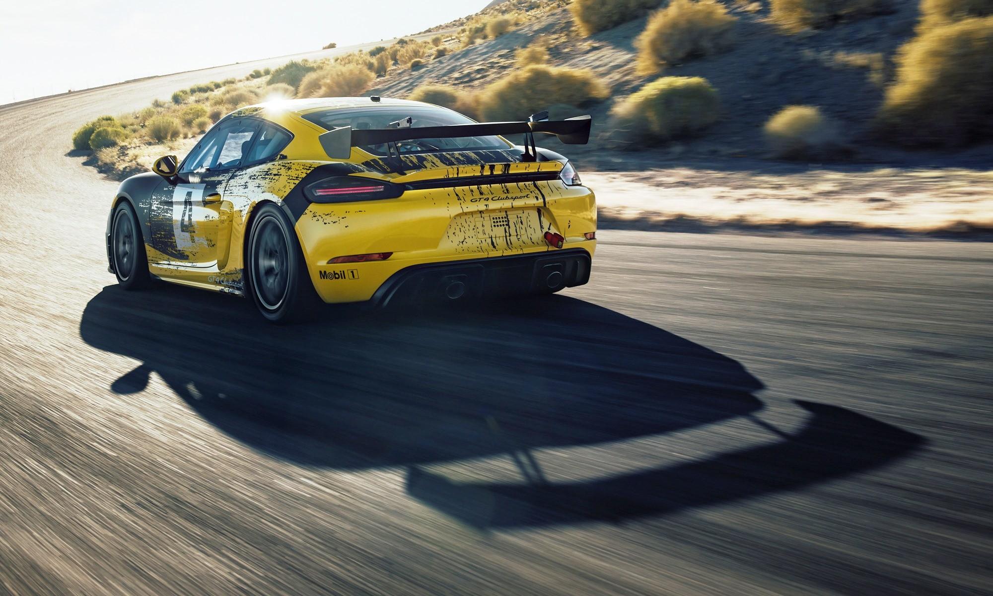 Porsche 718 Cayman GT4 Clubsport rear