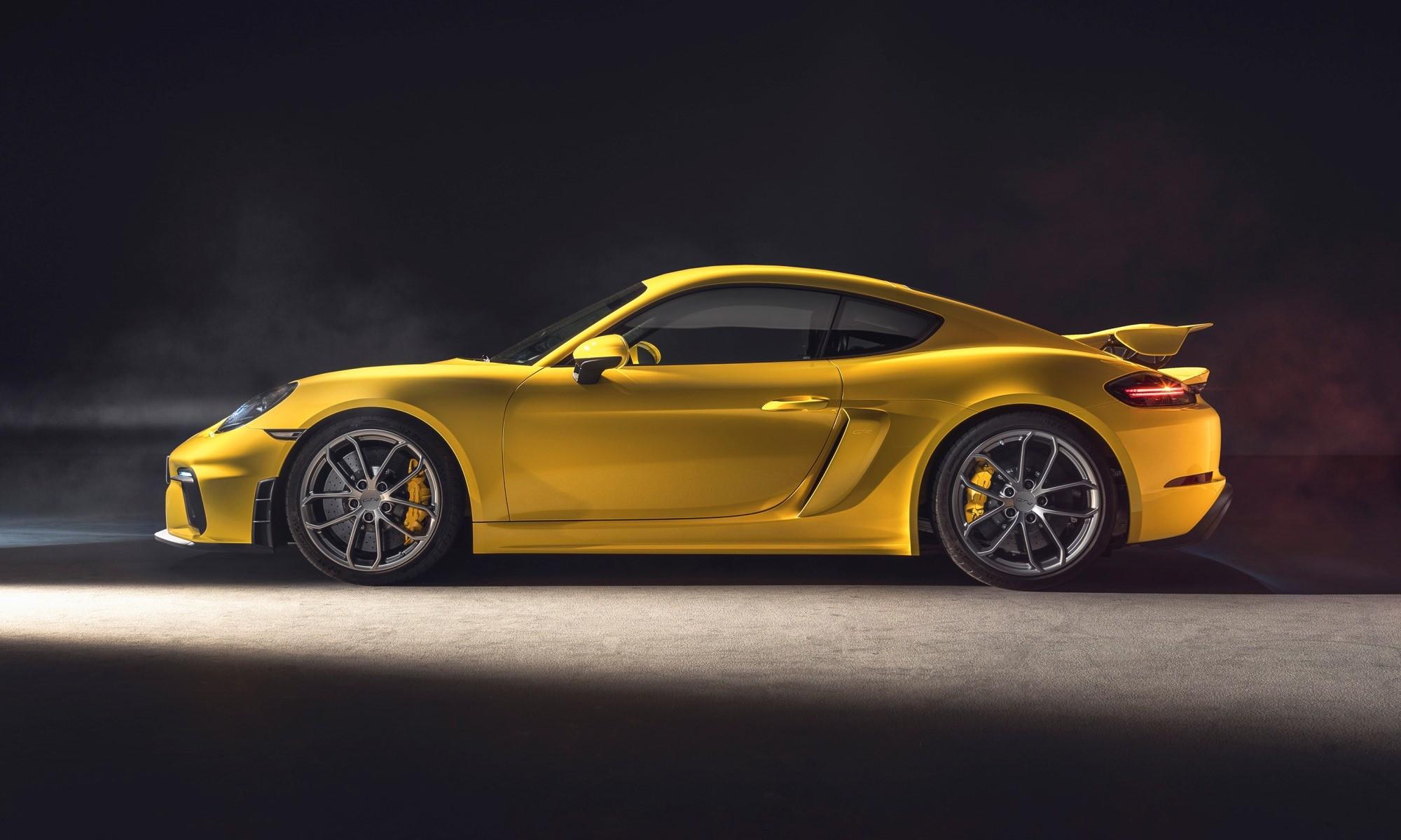Porsche 718 Cayman GT4 profile