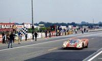 Porsche 917 takes the flag for Porsche at Le Mans