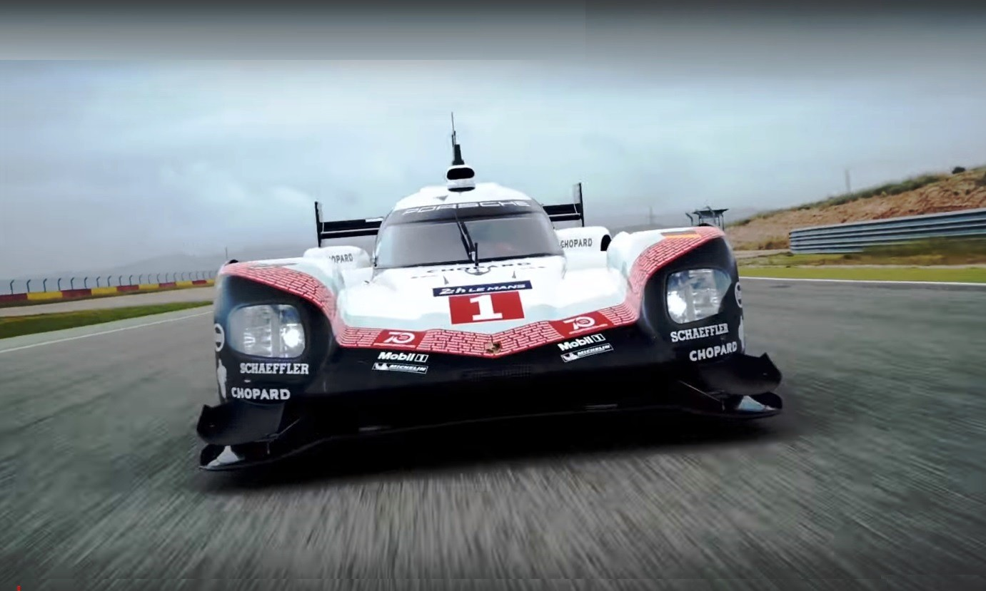 the porsche 919 hybrid continues on its tribute tour. Black Bedroom Furniture Sets. Home Design Ideas