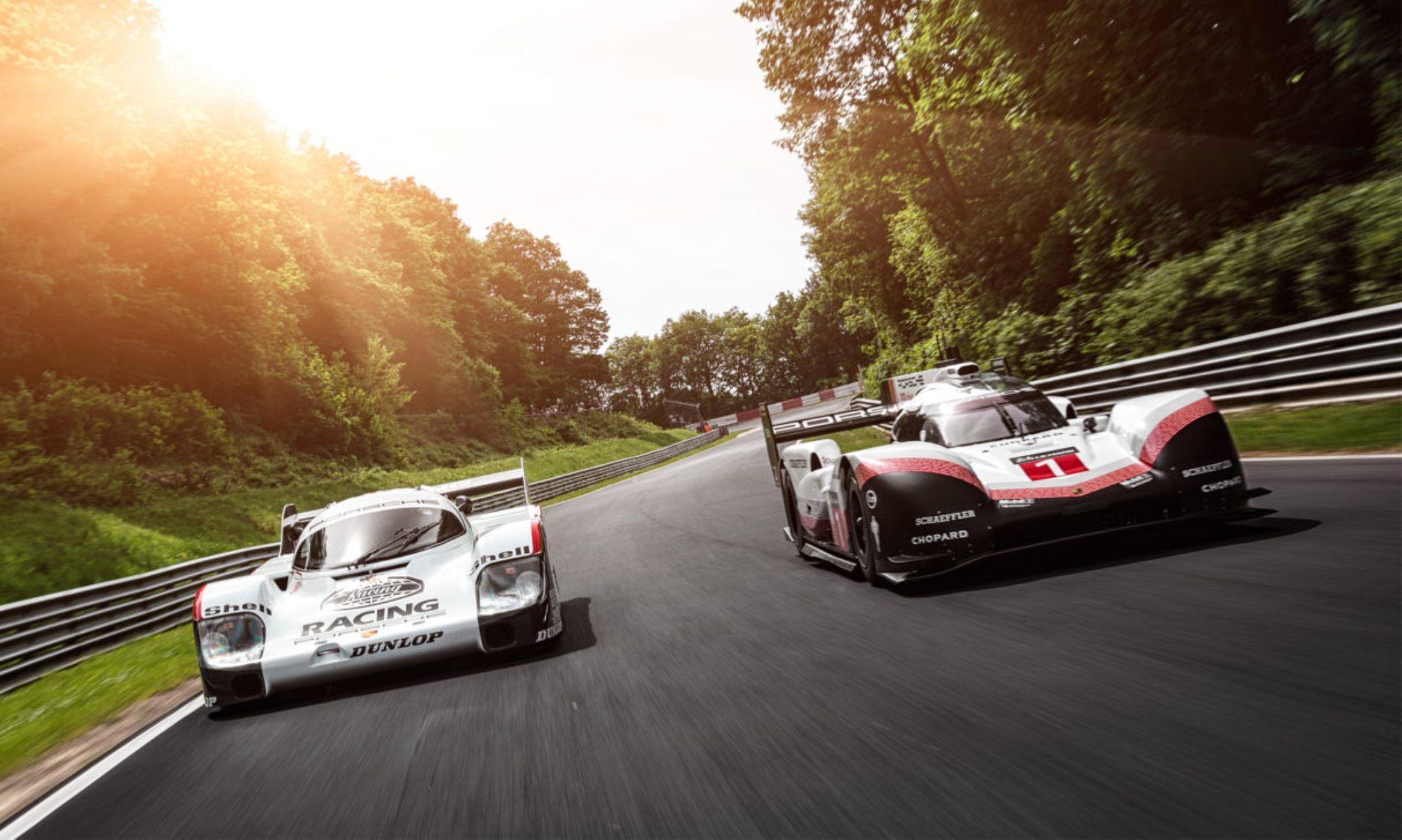 Porsche 956 and Porsche 919 at Nurburgring