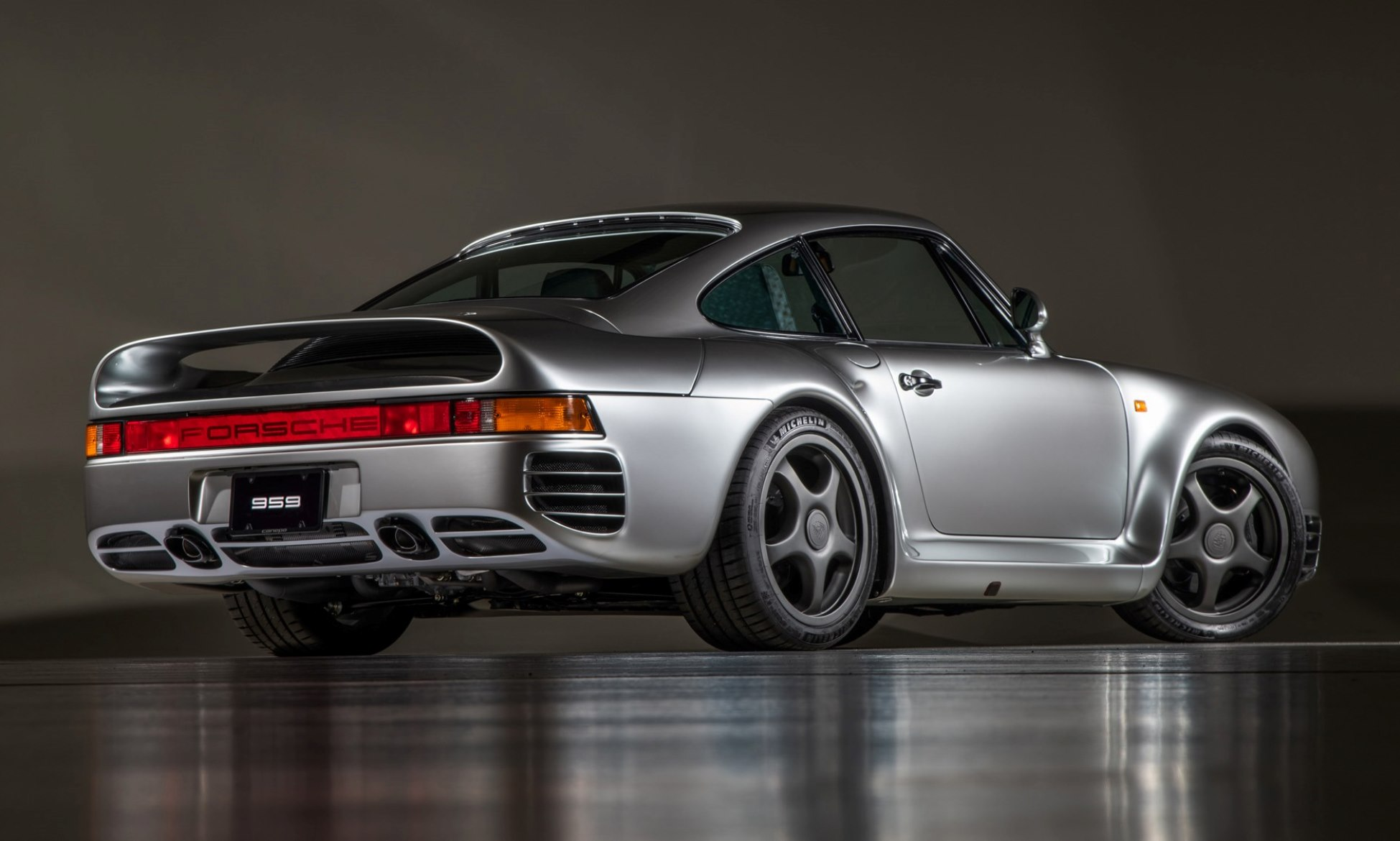 Porsche 959 Reimagined by Canepa grey rear