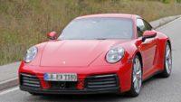 Porsche 992 spotted undisguised