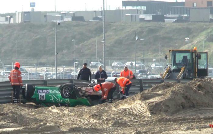 Porsche Crash at Zandvoort 1