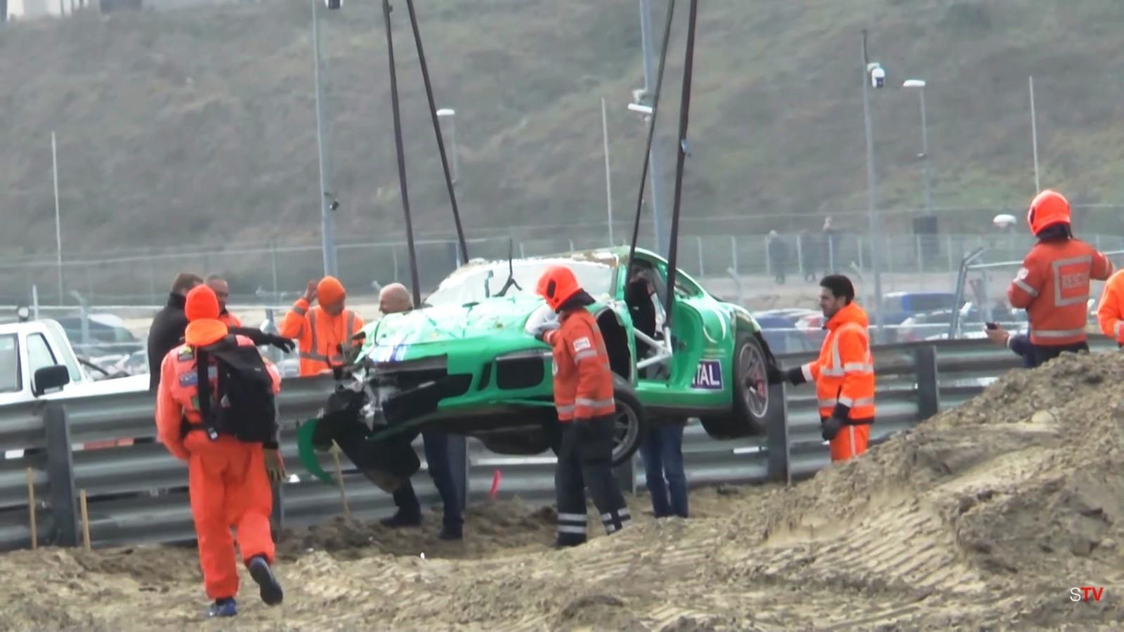 Porsche Crash at Zandvoort 2