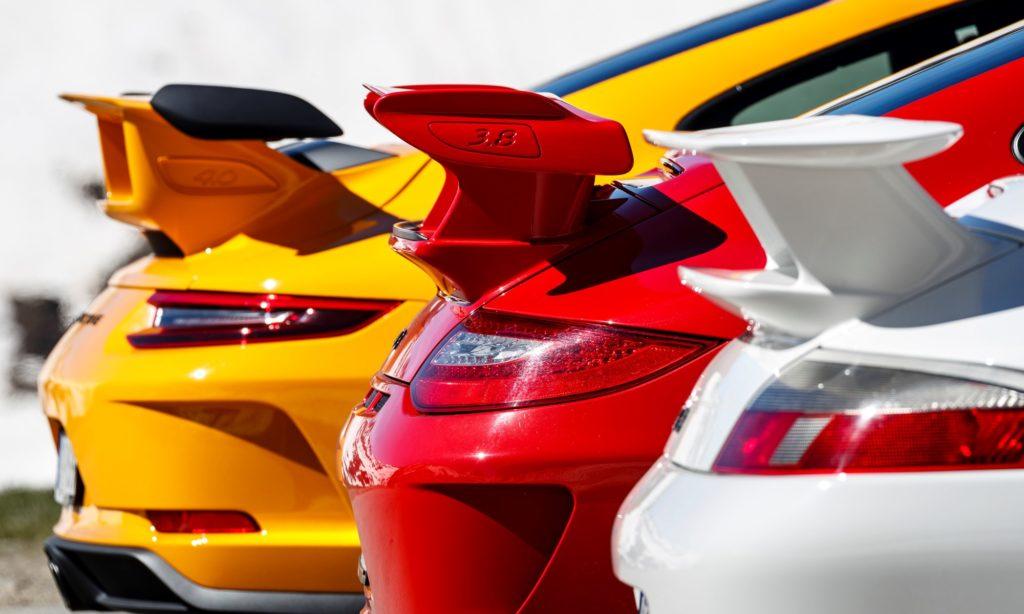 Porsche GT3 wings