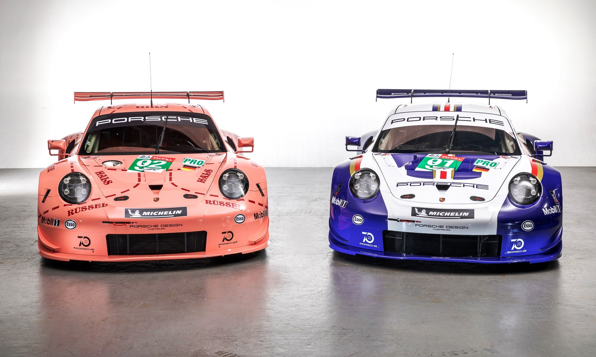 Porsche RSR models will compete at the 2018 24 Hours of Le Mans in classic livery