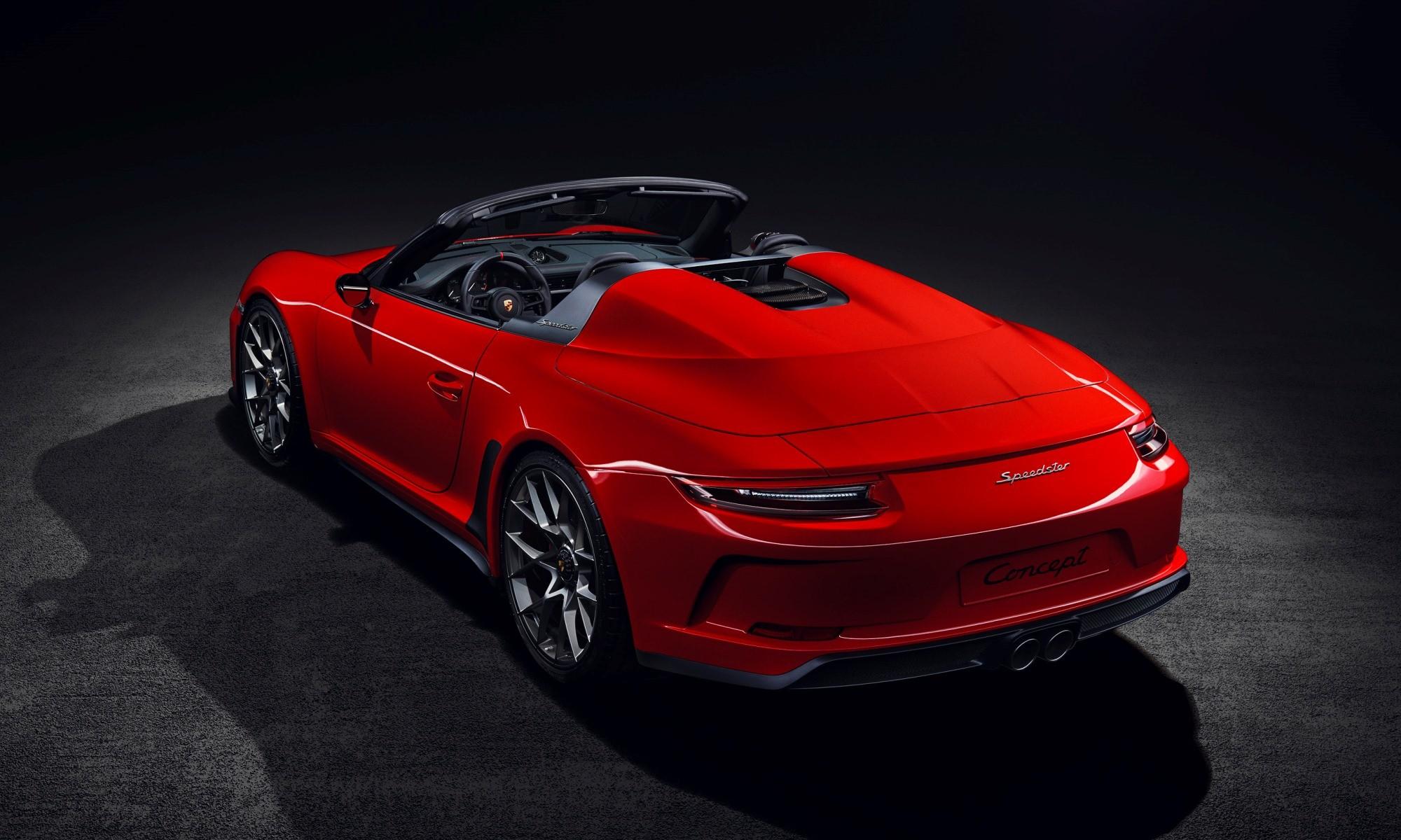 Porsche Speedster rear