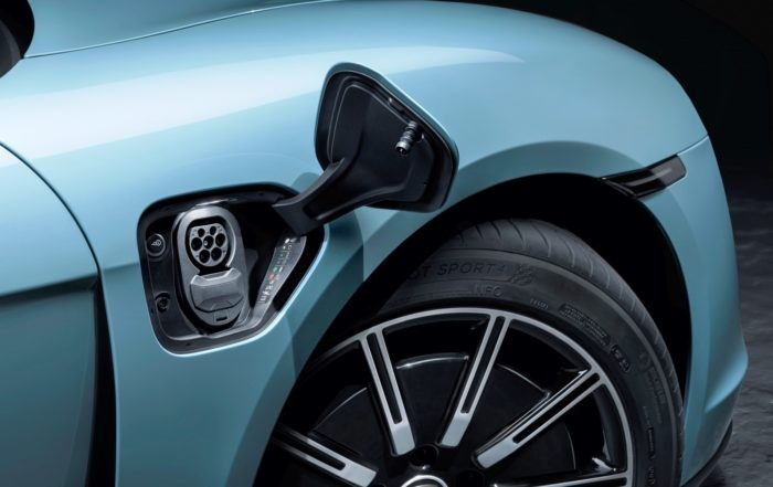 Porsche Taycan 4S charging port