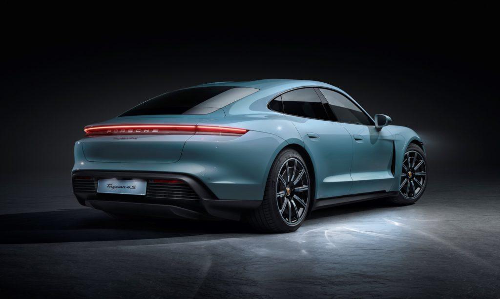 Porsche Taycan 4S rear