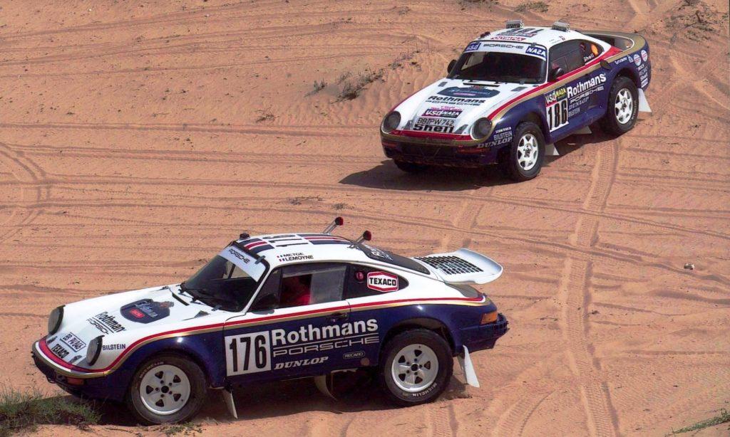 Porsches on the Paris-Dakar