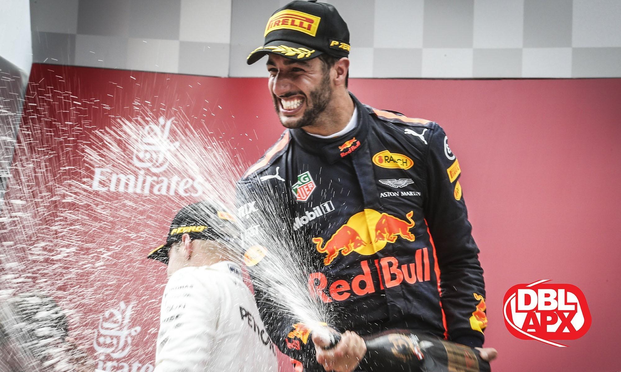 The driver marker hinges on Daniel Ricciardo