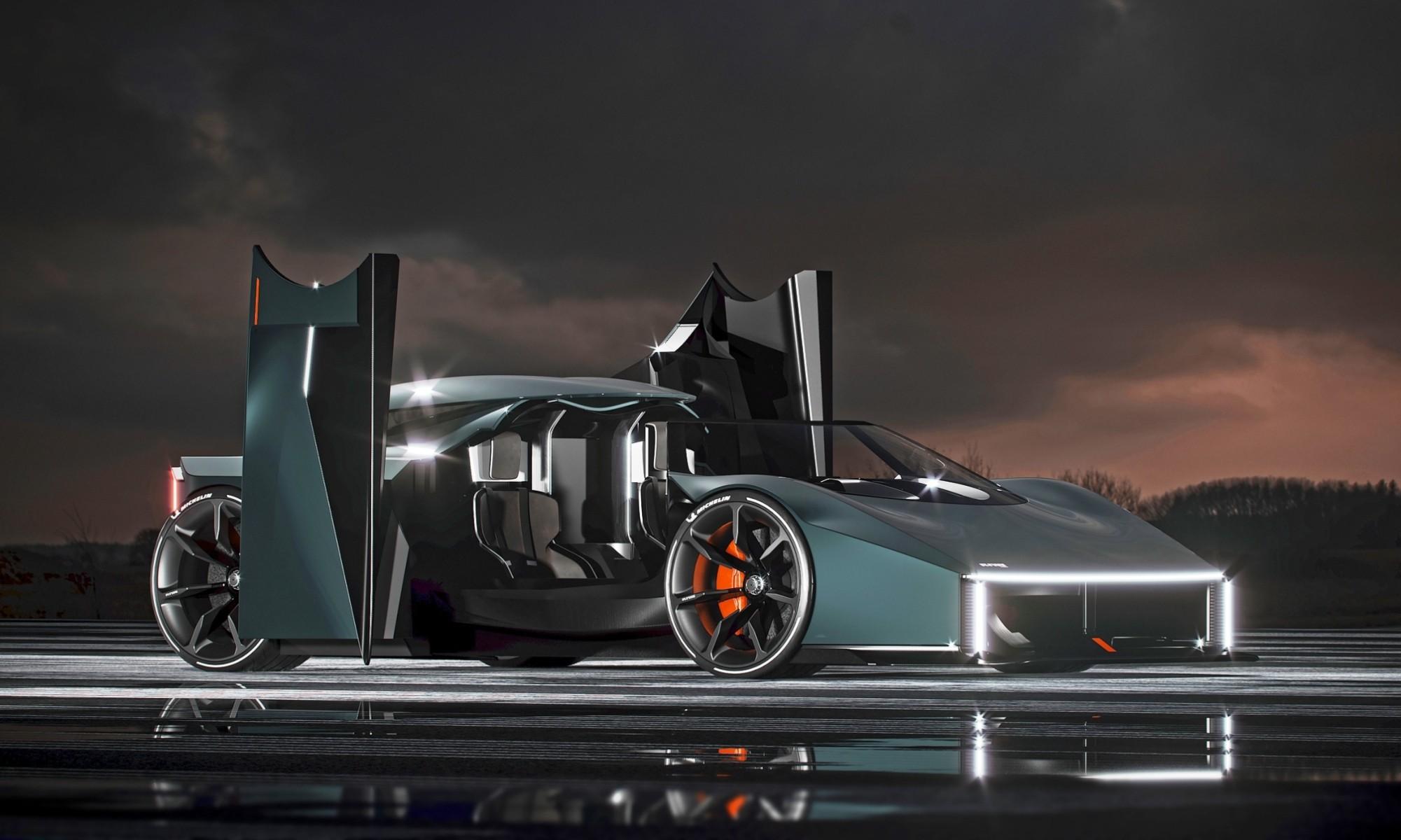 Raw by Koenigsegg doors open