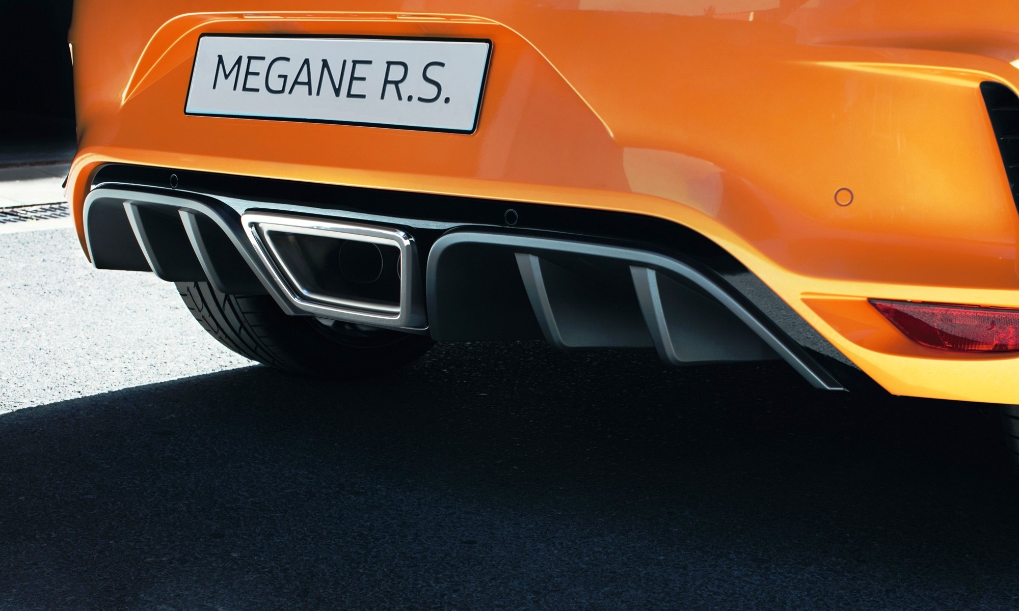 Renault Megane RS diffuser