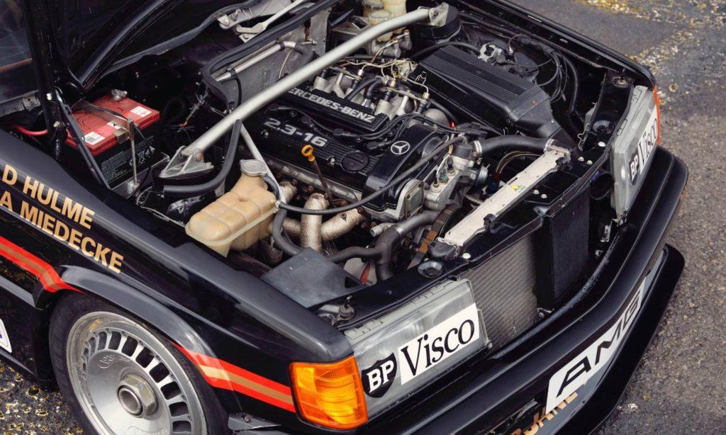 Restored Mercedes 190E Racecar engine