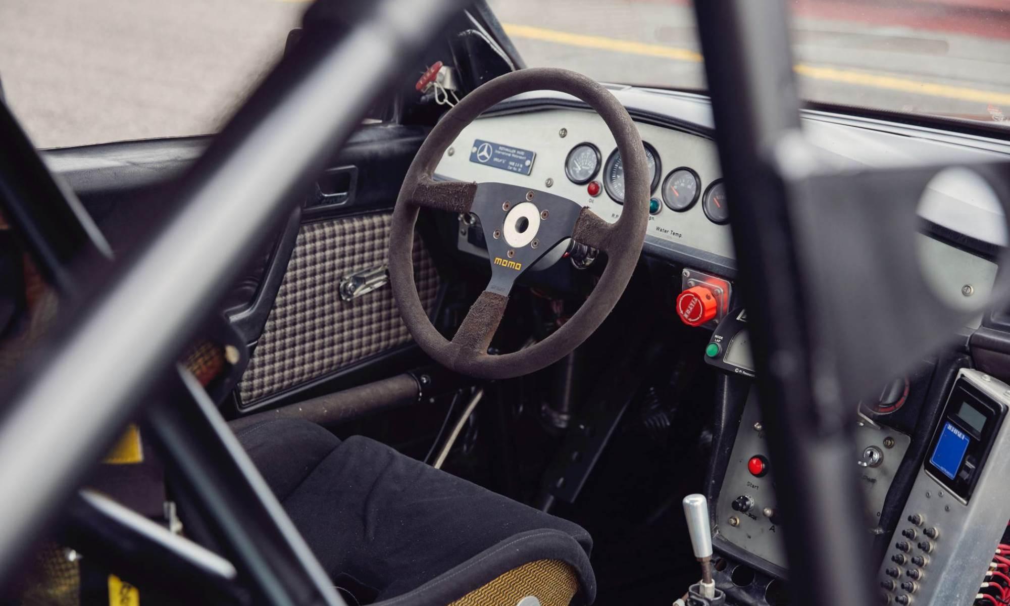 Restored Mercedes 190E Racecar interior