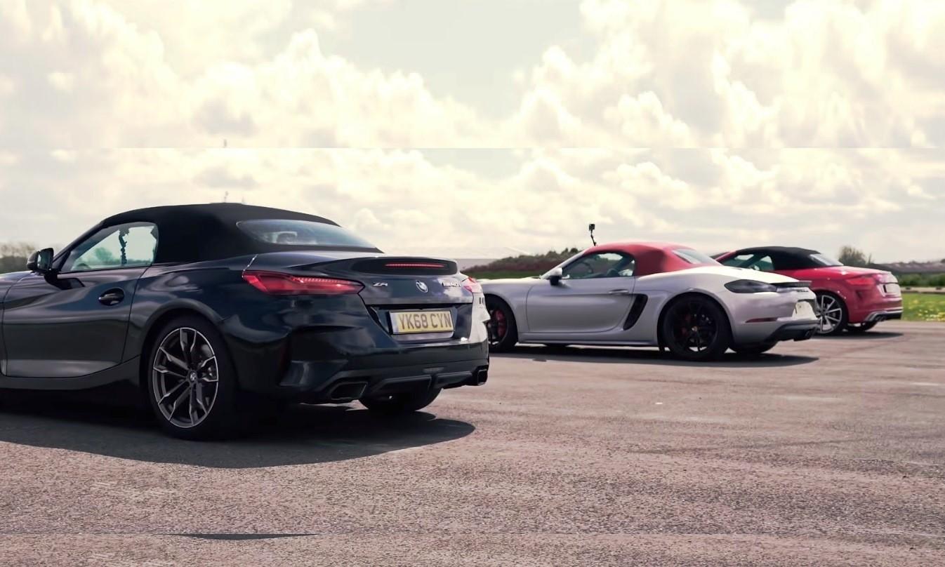 Roadster races rear