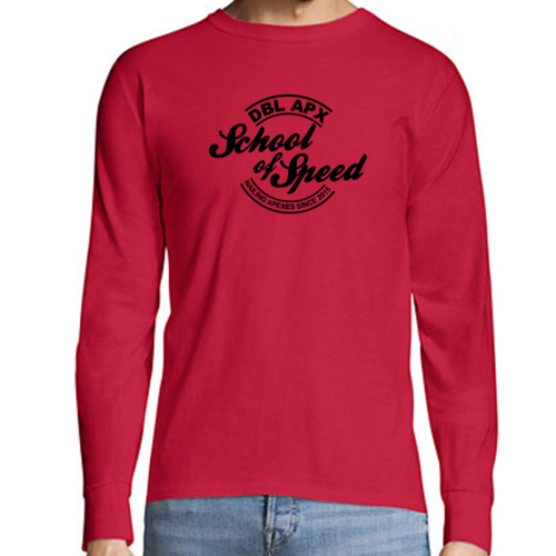 Double Apex School of Speed long sleeve car T-shirt